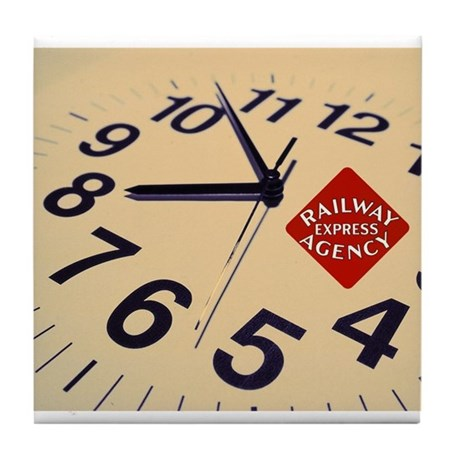 Railway Express Clock Tile Coaster