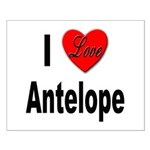 I Love Antelope Small Poster