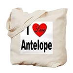 I Love Antelope Tote Bag