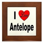 I Love Antelope Framed Tile