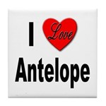 I Love Antelope Tile Coaster