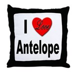 I Love Antelope Throw Pillow