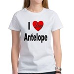 I Love Antelope (Front) Women's T-Shirt