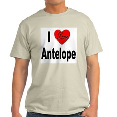 I Love Antelope Ash Grey T-Shirt