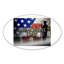 Memorial Day Oval Decal