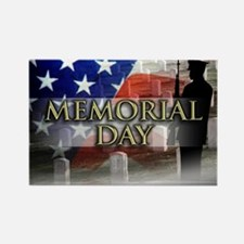 Memorial Day Rectangle Magnet