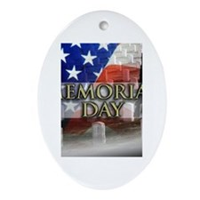 Memorial Day Oval Ornament