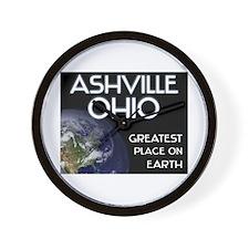 ashville ohio - greatest place on earth Wall Clock