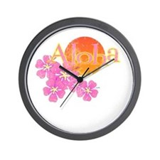 Cute Aloha Wall Clock