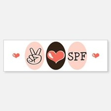 Peace Love SPF Bumper Bumper Bumper Sticker