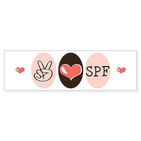 Peace Love SPF Bumper Sticker