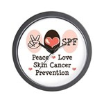 Peace Love SPF Wall Clock