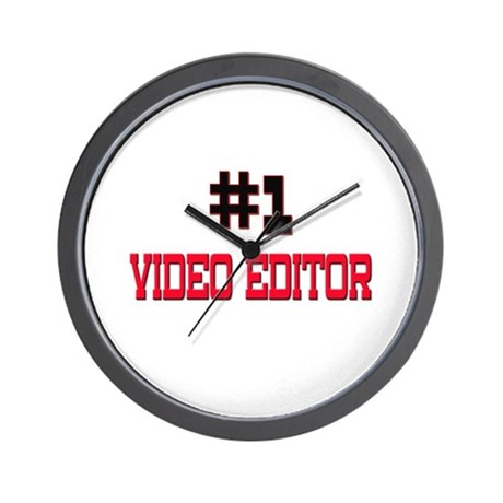 Number 1 VIDEO EDITOR Wall Clock