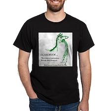 Llamatude Green Black T-Shirt