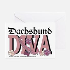 Dachshund Diva Greeting Cards (Pk of 20)