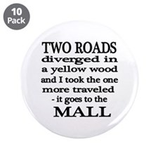 """Road to the Mall 3.5"""" Button (10 pack)"""