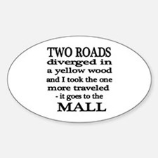 Road to the Mall Oval Decal