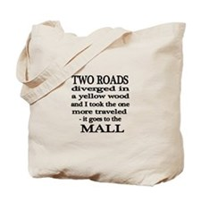 Road to the Mall Tote Bag