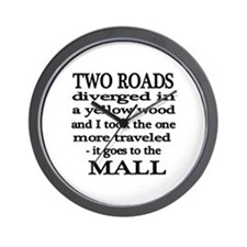 Road to the Mall Wall Clock