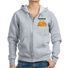 Firefighting Flames Zip Hoodie