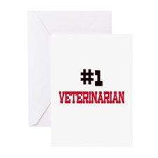 Number 1 VETERINARIAN Greeting Cards (Pk of 10)