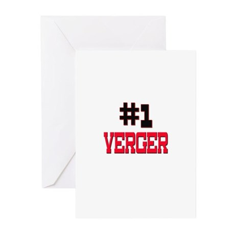 Number 1 VERGER Greeting Cards (Pk of 10)