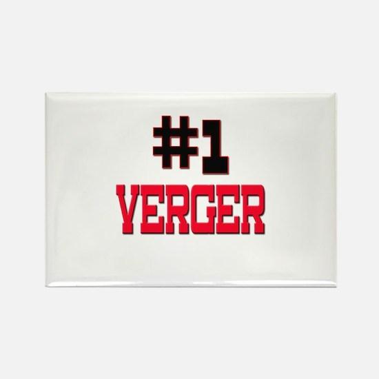 Number 1 VERGER Rectangle Magnet