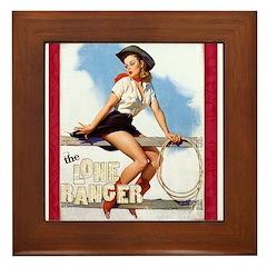 The Lone Ranger Framed Tile