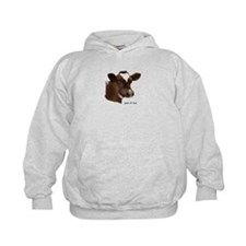 Red and white holstein calf Hoodie