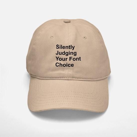Silently Font Baseball Baseball Cap