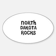 NORTH DAKOTA ROCKS Oval Decal