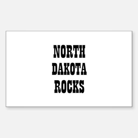NORTH DAKOTA ROCKS Rectangle Decal