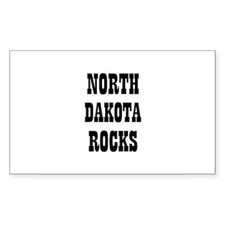 NORTH DAKOTA ROCKS Rectangle Sticker