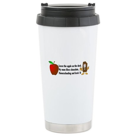 Mom likes Chocolate Stainless Steel Travel Mug