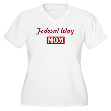 Federal Way Mom Women's Plus Size V-Neck T-Shirt