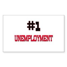 Number 1 UNEMPLOYMENT Rectangle Decal