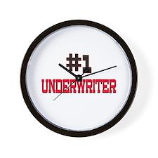 Number 1 UNDERWRITER Wall Clock