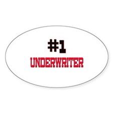 Number 1 UNDERWRITER Oval Decal