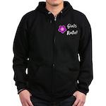 Girls Rule Zip Hoodie (dark)