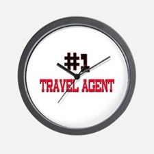 Number 1 TRAVEL AGENT Wall Clock