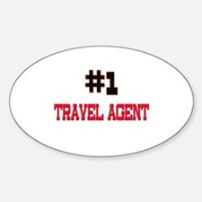 Number 1 TRAVEL AGENT Oval Decal