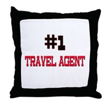 Number 1 TRAVEL AGENT Throw Pillow