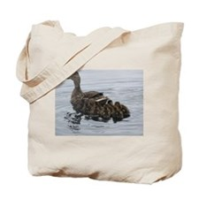 Momma Duck w Babies Tote Bag