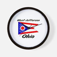 West Jefferson Ohio Wall Clock