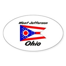 West Jefferson Ohio Oval Decal