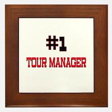 Number 1 TOUR MANAGER Framed Tile
