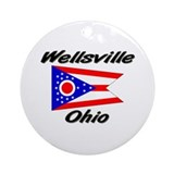 Wellsville ohio flag Ornaments
