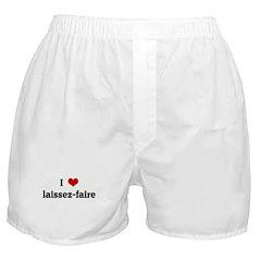 I Love laissez-faire Boxer Shorts