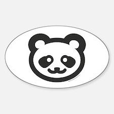 BABY PANDA Oval Decal