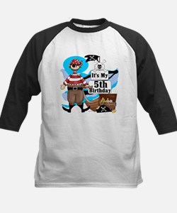 Pirate's Life 5th Birthday Kids Baseball Jersey